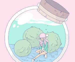 illustration, pink, and art image