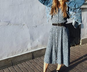 dress, jeans, and vintage image