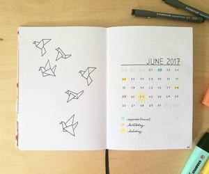 calendar, journal, and june image