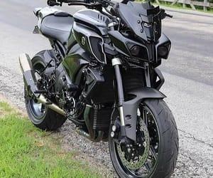 black, motorcycle, and YAMAHA image