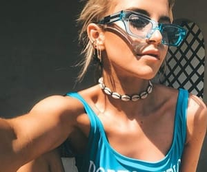 blond, chest, and necklace image