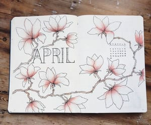flowers, april, and calendar image