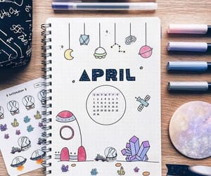 april, art, and journal image