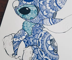 blue, disney, and draw image