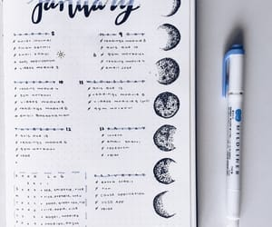 moon, bujo, and bullet journal image