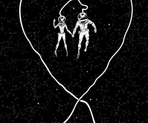 love, space, and black image