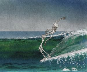 skeleton, art, and surf image