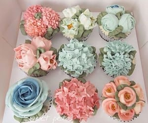 flowers, cupcake, and sweet image