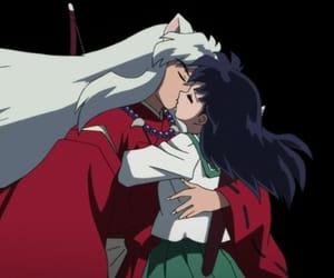 inuyasha, kagome, and kiss image