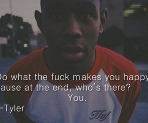 quote, happy, and tyler image