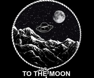 alien, moon, and space image
