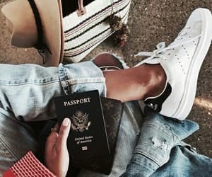 fashion, passport, and shoes image