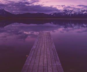 nature, sky, and lake image