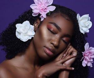 flowers, beauty, and melanin image