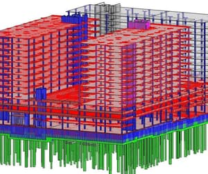 structural steel design, structural shop drawing, and structural beams design image