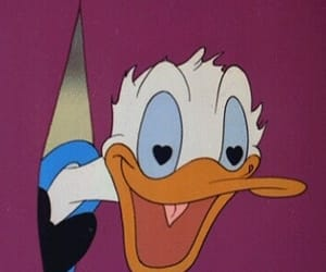 love, disney, and donald duck image