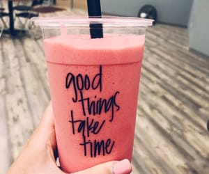 drink, pink, and quotes image