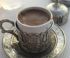 coffee, gold, and Turkish image