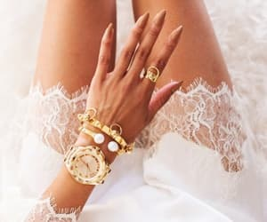 accessories, white, and hand image