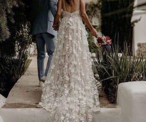 stunning, wedding, and wedding dress image