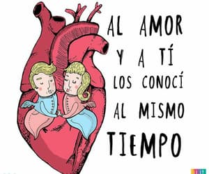 amor, heart, and letras image