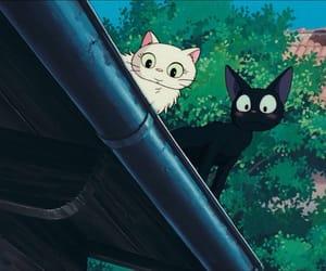 anime, black cat, and cat image