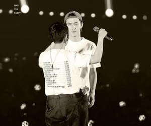 black and white, sesoo, and exo image