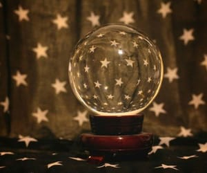 stars, crystal ball, and light image