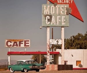 vintage, cafe, and motel image