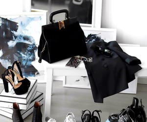 bags, black, and chic image