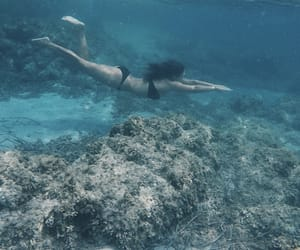blue, blue water, and girl image