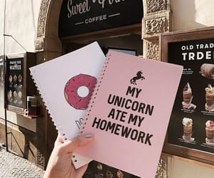 college, notebook, and pink image