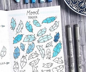 blue, inspiration, and bujo image