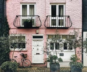 building and pink image