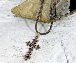 etsy, mens necklace, and crossnecklace image