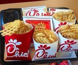 food, fries, and chick fil a image