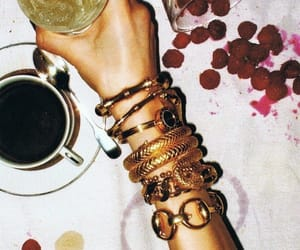 accessories, black coffee, and chic image