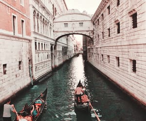 italy, venice, and rose gold image