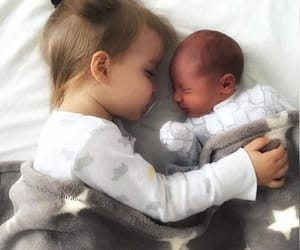baby, adorable, and cuddle image