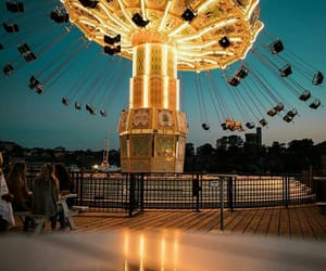 amusement park, childhood, and dreaming image
