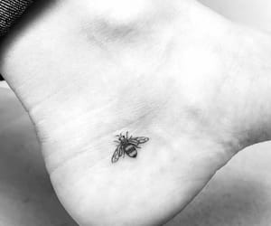 bee, tattoo, and black image