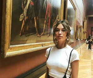 girl, art, and museum image