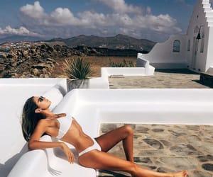 aesthetic, bikini, and clouds image