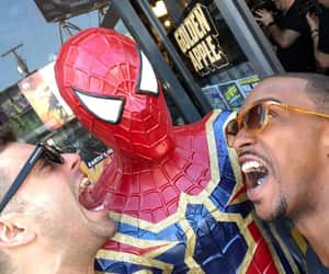 sebastian stan, anthony mackie, and spiderman image