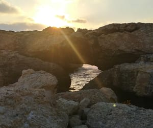 caves, cyprus, and sea image