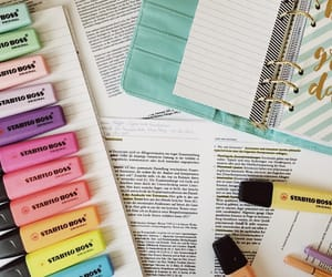 colors, study, and back to school image