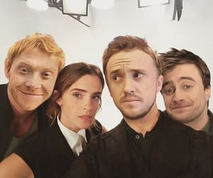 cast, daniel radcliffe, and draco malfoy image