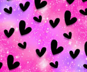 black, heart, and pink image