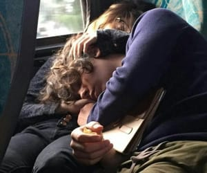couple, love, and sleeping image