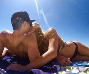 beach day, kisses, and moments image